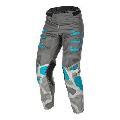 Pantalon cross enfant Fly Kinetic K221 gris/bleu