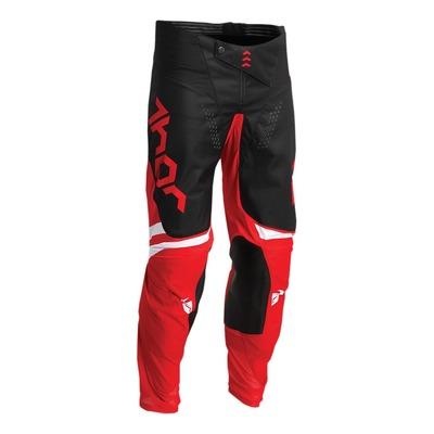 Pantalon cross enfant Thor Pulse Cube rouge/noir/blanc