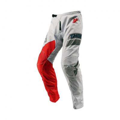 Pantalon cross enfant Thor Sector Shear gris clair/rouge