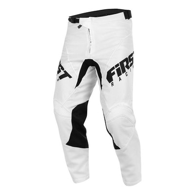 Pantalon cross First Racing Skim blanc