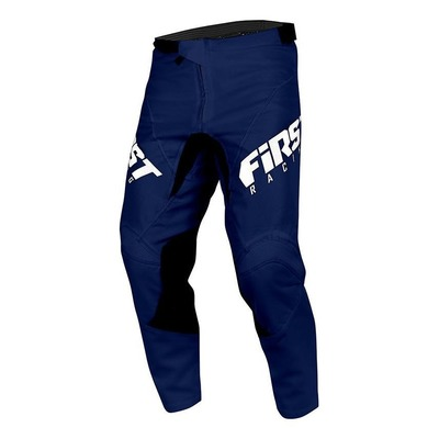 Pantalon cross First Racing Skim bleu marine