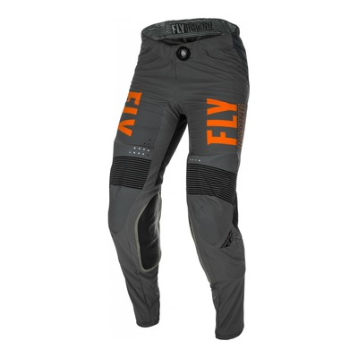 Pantalon cross Fly Racing Lite gris/orange/noir