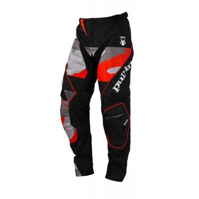 Pantalon cross Pull-in Fighter camo noir/orange