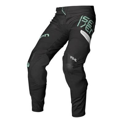 Pantalon cross Seven Rival Rampart noir/Mint
