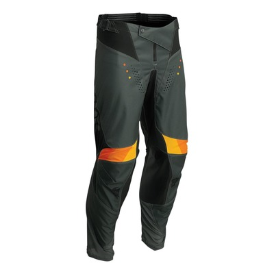 Pantalon cross Thor Pulse React army/noir/jaune/orange