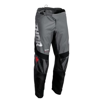 Pantalon cross Thor Sector Tear gris/noir