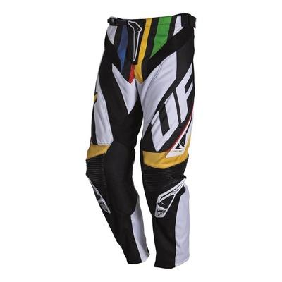 Pantalon cross Ufo Century blanc/noir/jaune