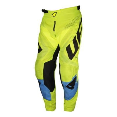Pantalon cross Ufo Division jaune fluo/bleu