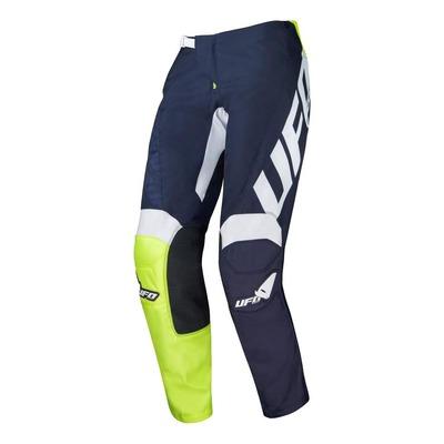 Pantalon cross Ufo Indium bleu marine/jaune fluo