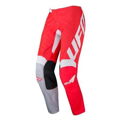 Pantalon cross Ufo Indium rouge/blanc