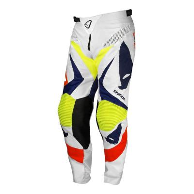Pantalon cross Ufo Shade blanc/blue/jaune/rouge