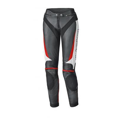 Pantalon cuir femme Held LANE II noir/blanc/rouge