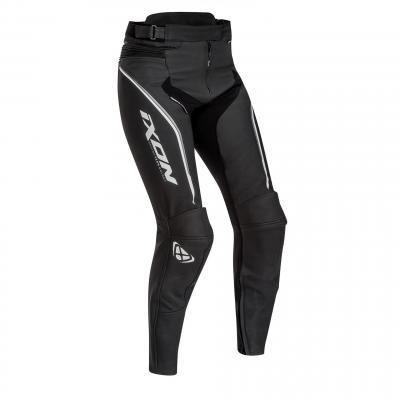 Pantalon cuir femme Ixon Trinity noir/blanc/gris