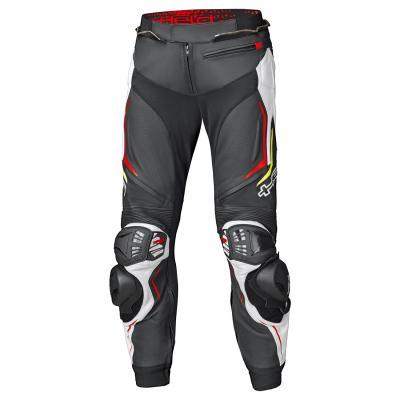 Pantalon cuir Held Grind II noir/blanc/rouge