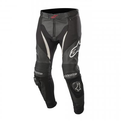 Pantalon cuir/textile Alpinestars SP X noir/blanc