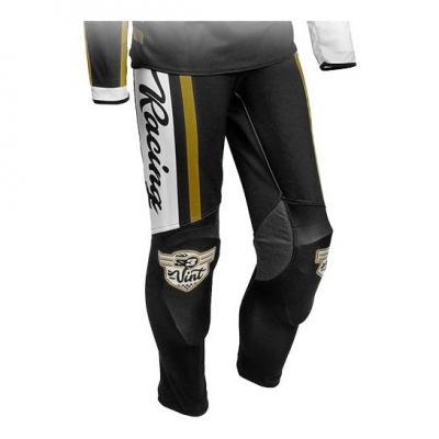 Pantalon de trial S3 Vintage blanc/noir
