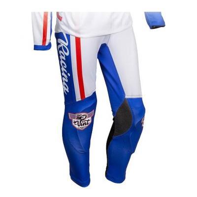 Pantalon de trial S3 Vintage bleu/blanc
