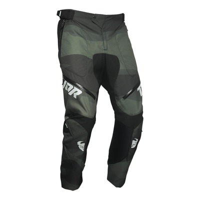 Pantalon enduro Thor Terrain vert camouflage (in the boot)