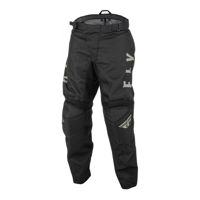 Pantalon enfant Fly Racing F-16 noir/gris