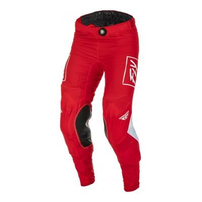 Pantalon Fly Racing Lite rouge/blanc