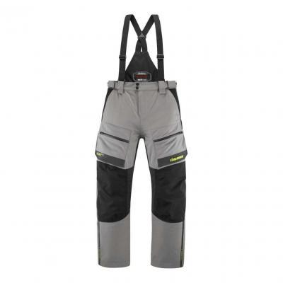 Pantalon textile Icon Raiden gris/jaune Hi-Viz