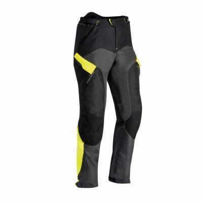 Pantalon textile Ixon Crosstour 2 PT noir/gris/jaune fluo