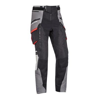 Pantalon textile Ixon Ragnar noir/gris/rouge