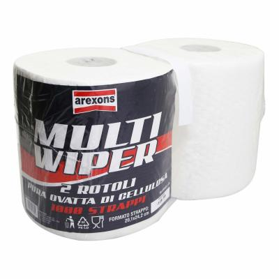 Papier essuie mains Arexons Wipper II Multi Ouate 20,3x25cm (x2)