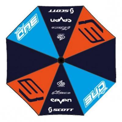 Parapluie Bud Racing Race bleu/orange/sky bleu