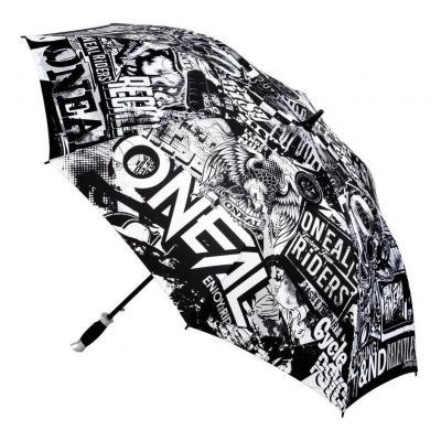 Parapluie O'Neal Moto Attack noir/blanc