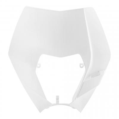 Pastique plaque phare Acerbis KTM 250 EXC 08-13 blanc