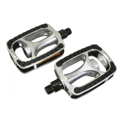 Pédales plates Marwi SP811 aluminium argent/noir