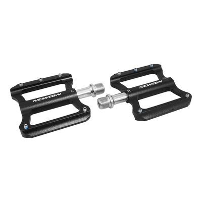 Pédales plates Newton 11x81mm aluminium 9/16'' noir
