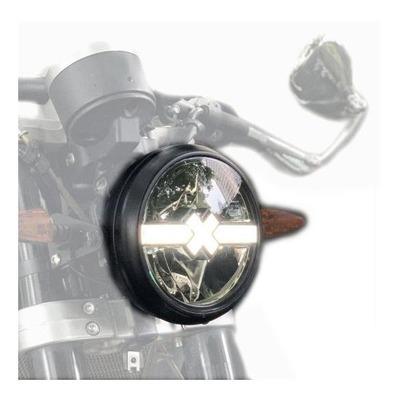 Phare LED Brazoline Cross-X noir Ø 170 mm
