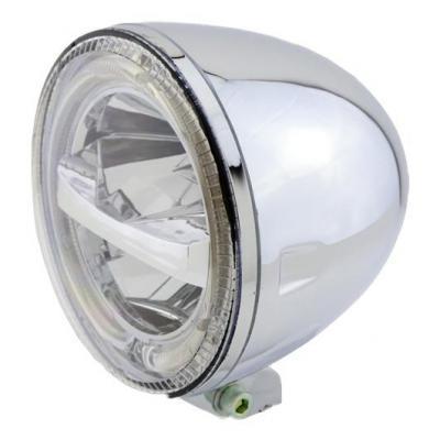 Phare LED Highsider Circle fixation inférieure chromé