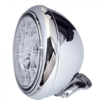 Phare LED Highsider HD-Style type 1 fixation inférieure chromé
