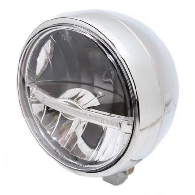 Phare LED Highsider Jackson fixation inférieure chromé