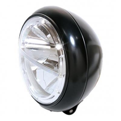 Phare LED Highsider Voyage HD-Style fixation inférieure noir