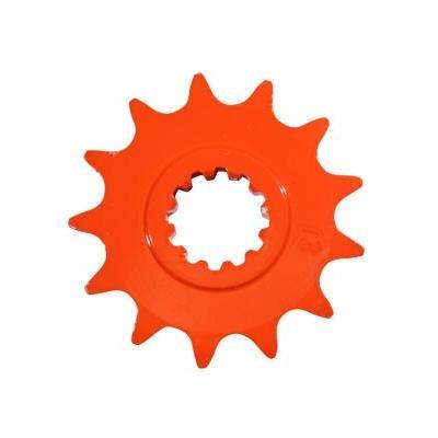 Pignon 14 dents pas 420 Minarelli AM6 orange