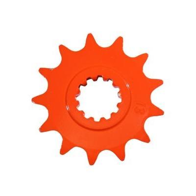 Pignon 15 dents pas 420 Minarelli AM6 orange