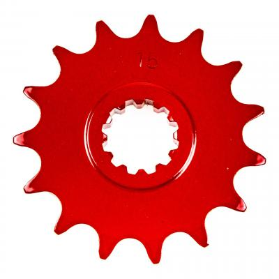 Pignon 15 dents pas 420 Minarelli AM6 rouge