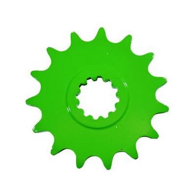Pignon 15 dents pas 420 Minarelli AM6 vert