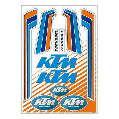 Planche autocollant Tecnosel KTM