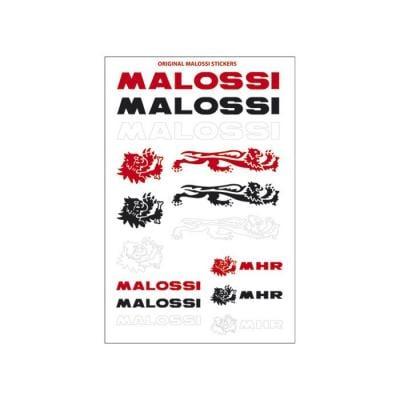 Planche autocollants Malossi de couleur