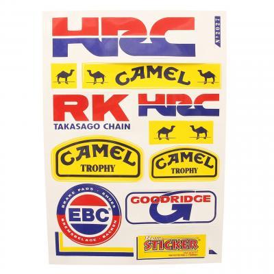 Planche autocollants racing HRC