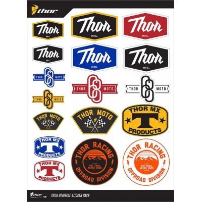 Planche autocollants Thor HERITAGE DECAL SHEET