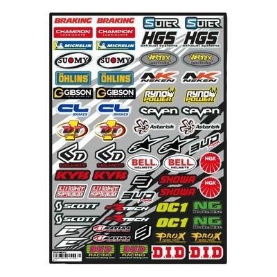 Planche d'autocollants Bud Racing Micro logos