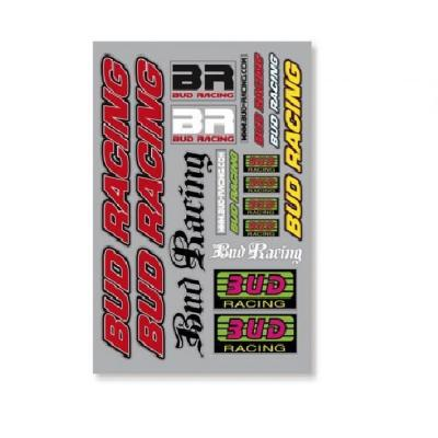 Planche d'autocollants Bud Racing