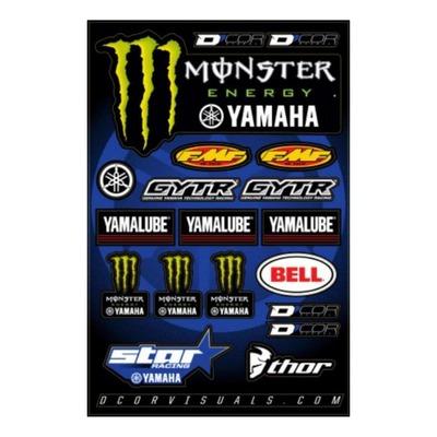 Planche d'autocollants D'cor 17 Team Star Racing Yamaha