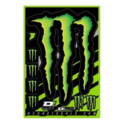 Planche d'autocollants D'cor Monster Energy Claw
